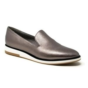 Com+Sens Shebby Wedge Loafer Pewter Size 9 EUC